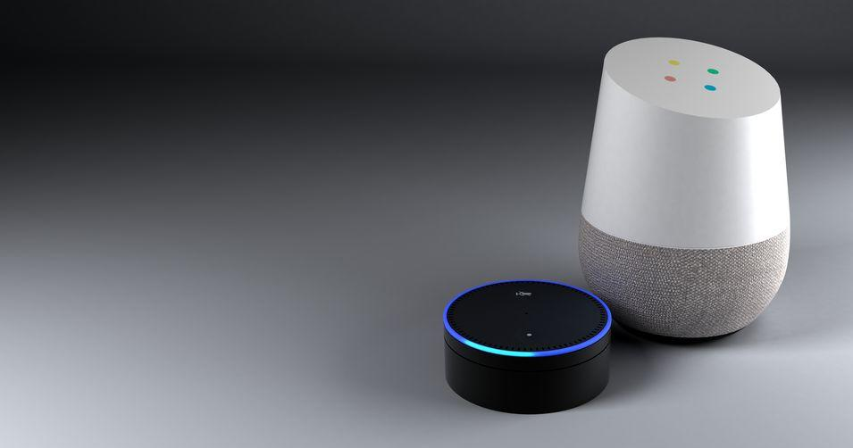 voice recognition systems like Amazon Alexa and Google Home
