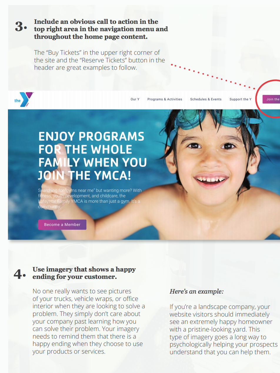 YMCA website example